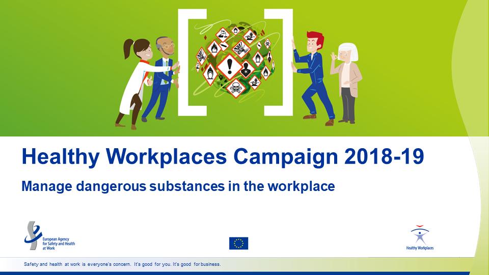 Здравословни работни места управление на опасните вещества 2018-2019