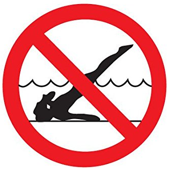 Проверете дълбочината на водата. Не бихте искали да се нараните при гмуркането във водата, когато е прекалено плитка.