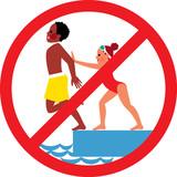 Не бутайте други хора в басейна!