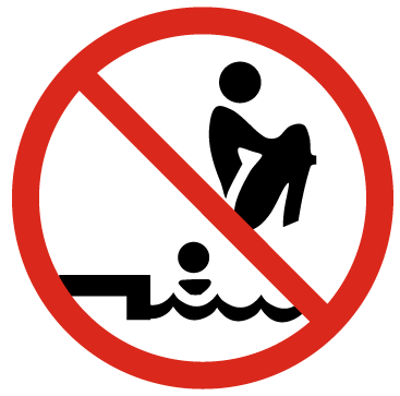 Проверете дълбочината на водата.