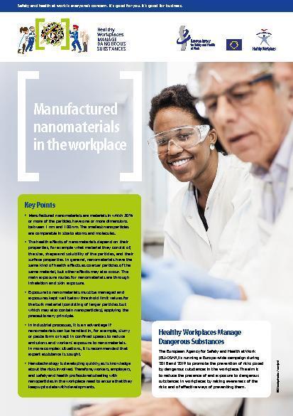 Произведени наноматериали на работното място