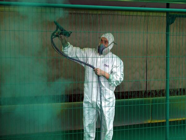 Инструкция за безопасна работа при прахово боядисване