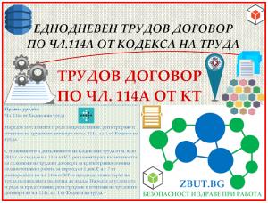 Еднодневен трудов договор по чл.114а от Кодекса на труда